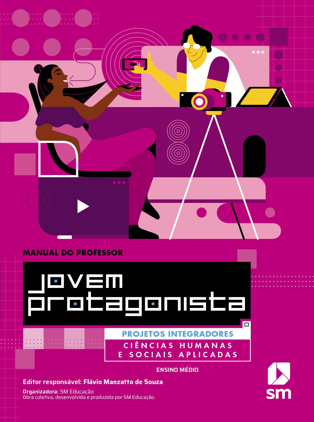 Capa do livro Ciências humanas e sociais aplicadas da coleção Jovem protagonista